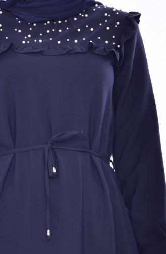 Robe Perlées 3032-05 Bleu Marine 3032-05