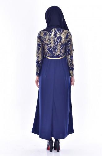 Belt Dress 4464-05 Navy 4464-05