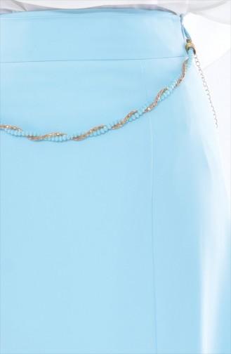 Jupe évasée a Ceinture 1616626-800 Bleu Menthe 1616626-800