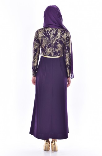 Belt Dress 4464-07 Purple 4464-07