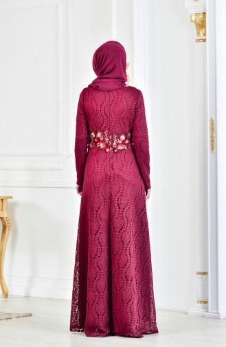 Spitzen Abendkleid 3286-03 Zwetschge 3286-03