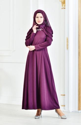 Robe de Soirée avec Collier 4463-10 Plum 4463-10