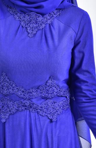 Geschnürtes Abendkleid mit Strassstein 6131-05 Saks 6131-05