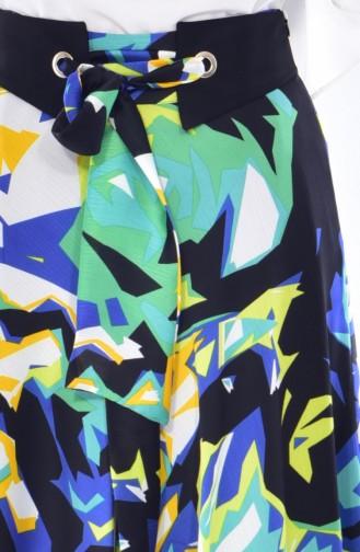 Jupe Mousseline a Ceinture 1716784B-900 Vert 1716784B-900