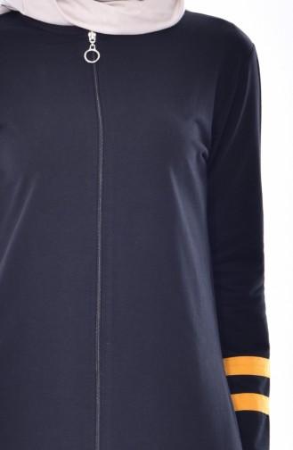 Zippered Tracksuit Suit 18050-19 Black Mustard 18050-19