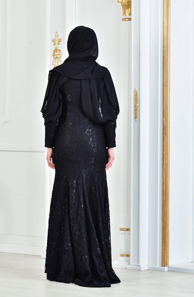 1d4e81132 Beading Embroidered Evening Dress 3128-02 Black 3128-02