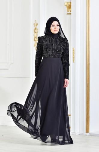 Pearls Evening Dress 3131-02 Black 3131-02