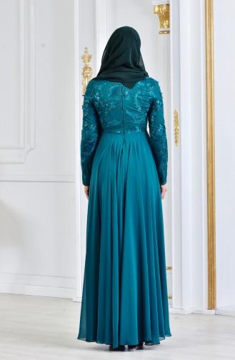 Smaragdgrün Hijab-Abendkleider 8134-03