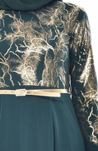 Robe a Ceinture 4464-01 Vert emeraude 4464-01