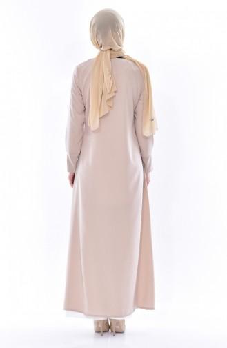 Beige Abayas 4000-01
