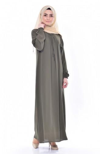 Sleeve Tights Dress 1024-02 Khaki 1024-02