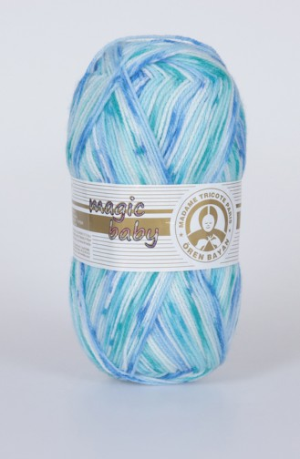 Textiles Women´s Magic Baby Yarn 3000-402 Blue light Beige 3000-402