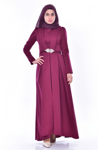 Belt Dress 11182-01 Plum 11182-01