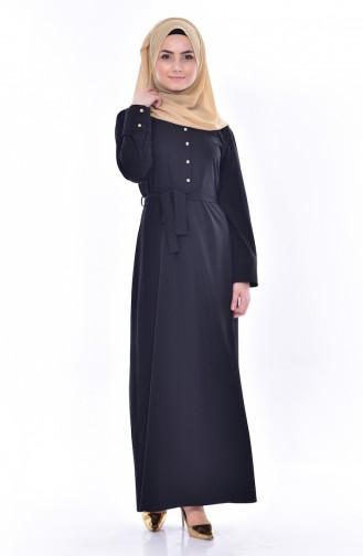 Robe Détail Boutons 1159-01 Noir 1159-01