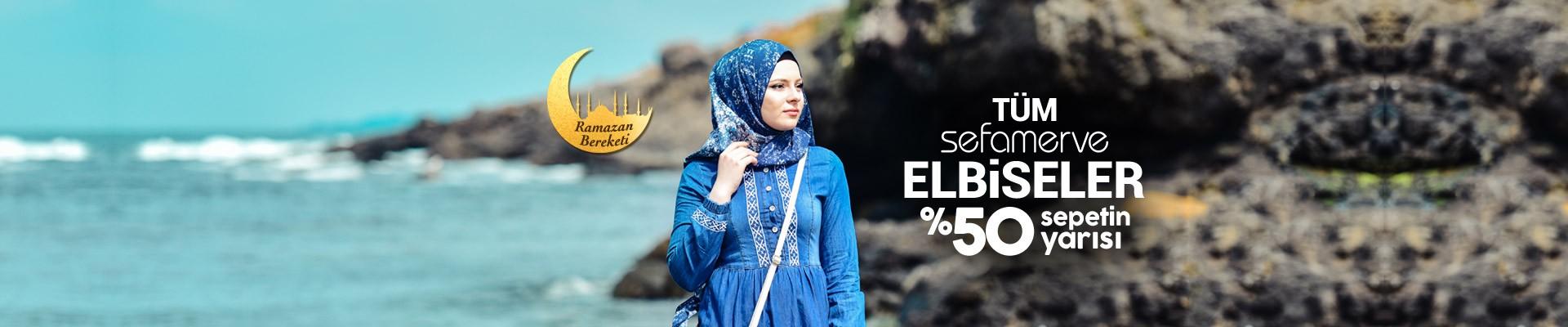 Sefamerve Tüm Elbiseler %50 Sepetin Yarısı