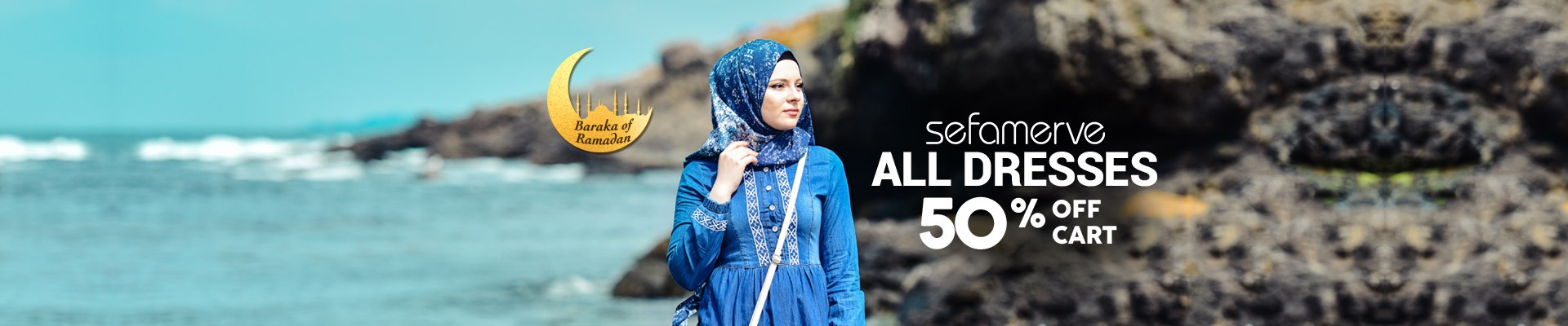 50% Off Cart on All Sefamerve Dresses