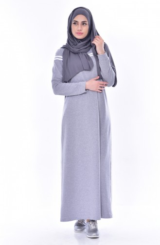 Robe Sport a Rayure 8161-02 Gris 8161-02
