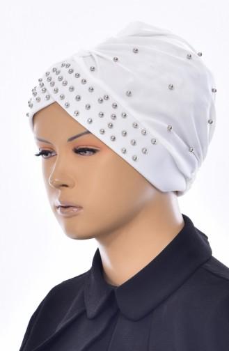 Bonnet Perlés Croisé 0020-04 Ecru 0020-04