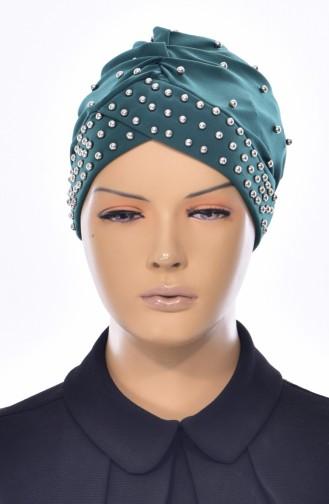 Bonnet Perlés Croisé 0020-05 Vert emeraude 0020-05