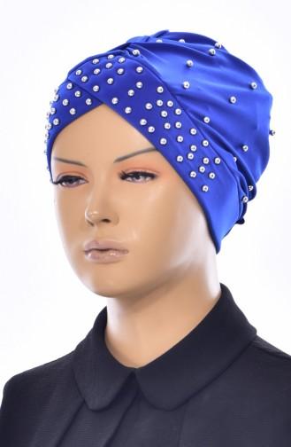 Bonnet Perlés Croisé 0020-08 Bleu Roi 0020-08