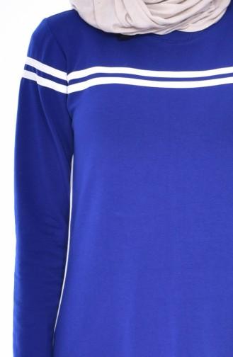 Robe Sport a Rayure 8161-04 Bleu Roi 8161-04