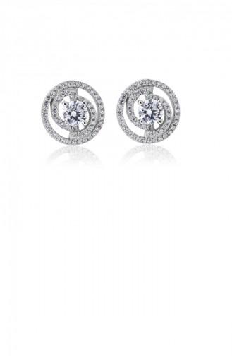Silver Gray Earring 20843
