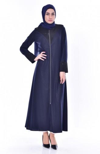 Abaya Garnie 3001-02 Bleu Marine 3001-02