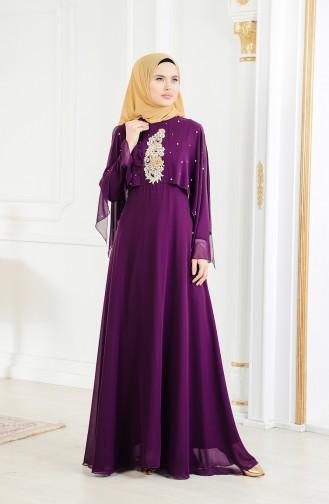 Purple İslamitische Avondjurk 11152-01