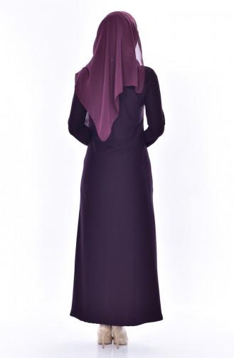 Kleid mit Spitzen 4455-05 Lila 4455-05