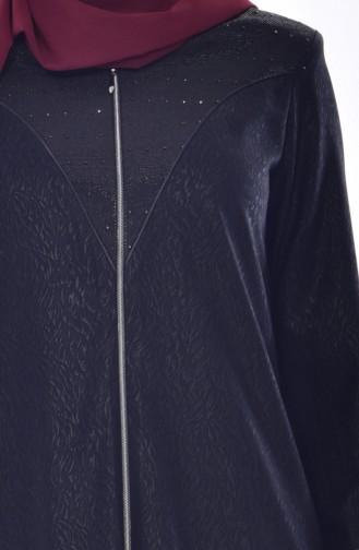 Abaya Garnie 3001-01 Noir 3001-01