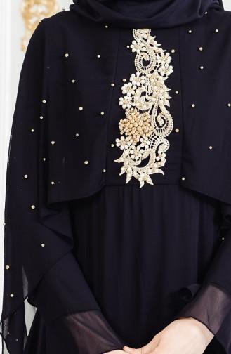 Pearls Evening Dress 11152-03 Black 11152-03