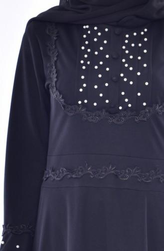 Robe Perlées a Dentelle 9239-05 Noir 9239-05
