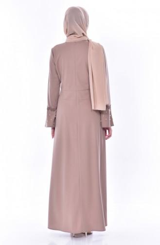 Lace Pearls Dress 9239-03 Mink 9239-03