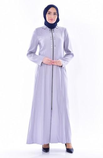 Hijab Mantel mit Kapuzen 1010-03 Hell Lila 1010-03