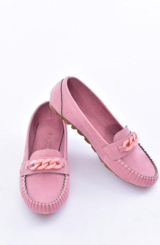 Pink Woman Flat Shoe 50193-06