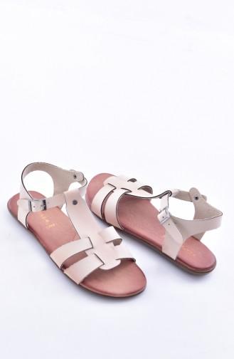 Beige Summer Sandals 50252-02