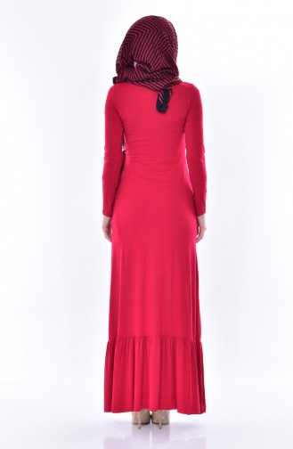 Robe Détail Lacets 1423-03 Rouge 1423-03