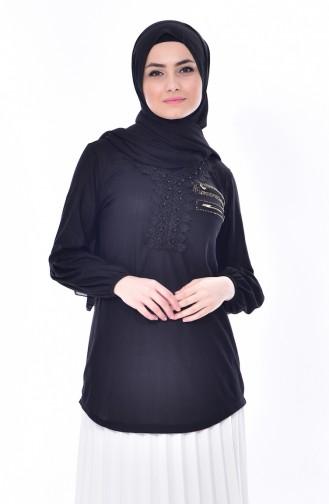 Black Blouse 1019-03