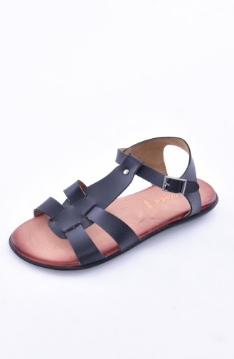 Black Summer Sandals 50252-01
