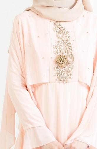 Robe de Soirée Perlées 11152-04 Saumon 11152-04