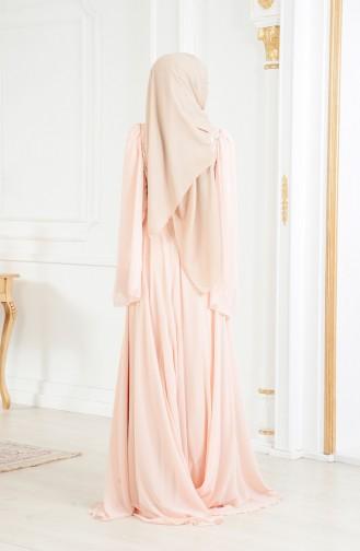 Robe de Soirée a Paillette 11184-02 Saumon 11184-02