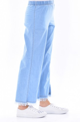 Hose mit Fransen 5172-01 Hell Blau 5172-01