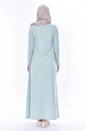 TUBANUR Suit Looking Dress 2895-17 Almond Green Light Beige 2895-17