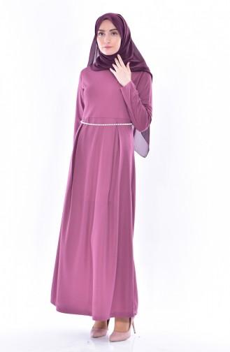 Robe a Ceinture 3840-01 Rose Pâle 3840-01