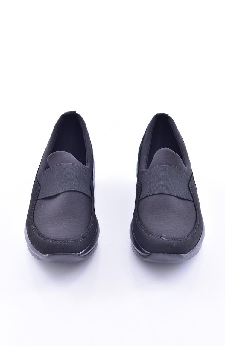 128204973 حذاء نسائي بتصميم كاجوال 0790-02 لون اسود 0790-02