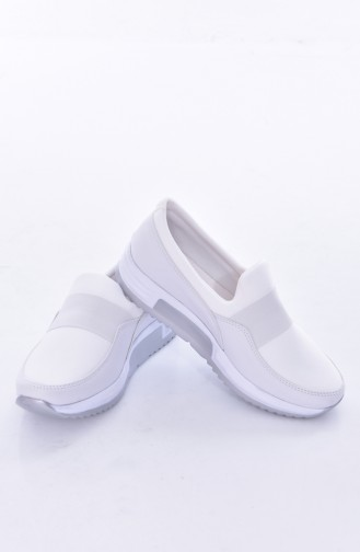 White Casual Shoes 0790-05