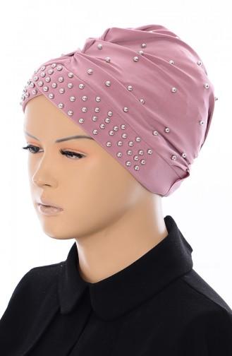 Bonnet Perlés Croisé 0020-14 Rose Pâle 0020-14