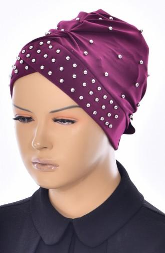 Bonnet Perlés Croisé 0020-15 Plum 0020-15