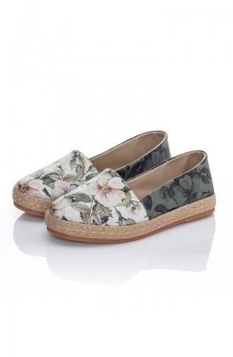 حذاء مسطح أخضر حشيشي 7015-Bennie
