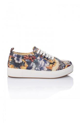Chaussures Pour Femme 7019-Art Pourpre Motifs 7019-Art